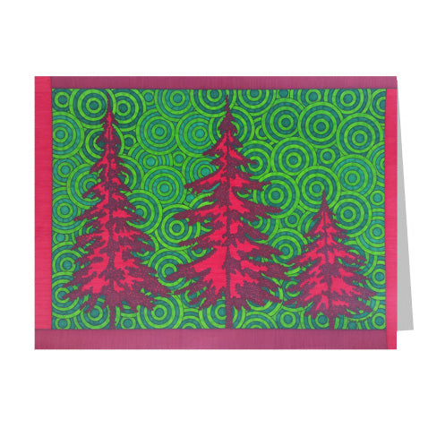 Red Trees 5x7 Greeting Card