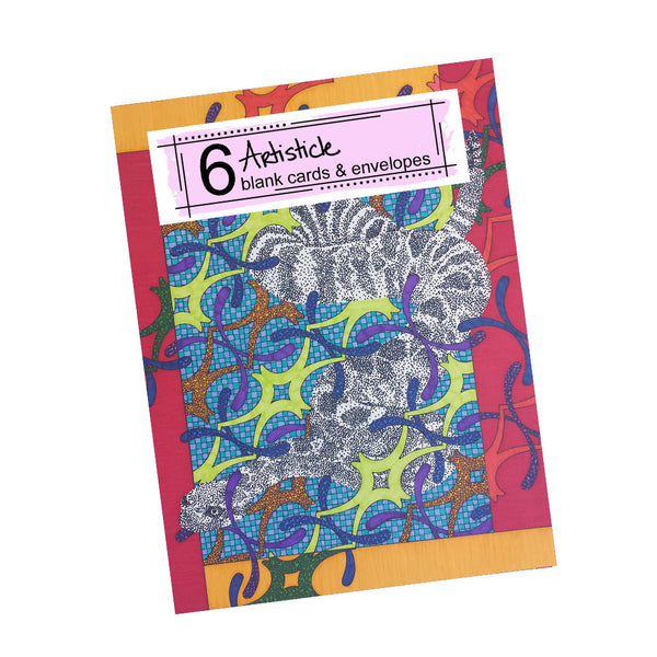 Rattlesnake Note Cards, set of 6 blank cards with envelopes