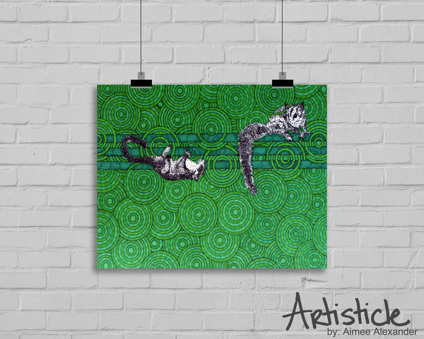 Sugar Gliders signed art print