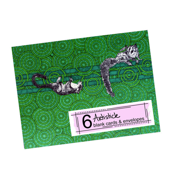 Sugar Gliders Note Cards, set of 6 blank cards with envelopes