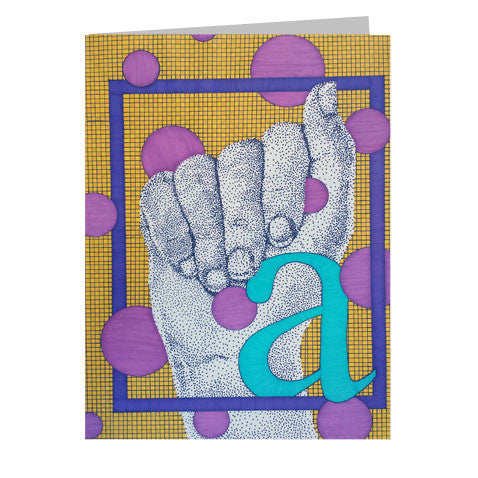 Sign Language Monogram 5x7 Greeting Card
