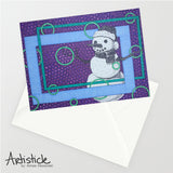 Snowman 5x7 Greeting Card