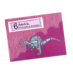 Spinosaurus Note Cards, set of 6 blank cards with envelopes