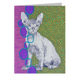 Sphynx Note Cards, set of 6 blank cards with envelopes