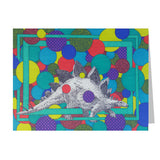 Stegosaurus Note Cards, set of 6 blank cards with envelopes