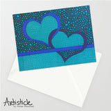 Thin Blue Line Note Cards, set of 6 blank cards with envelopes