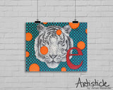Tiger Alphabet Signed Art Print