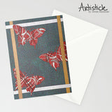 Twisted Fly Note Cards, set of 6 blank cards with envelopes