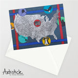 USA 5x7 Greeting Card