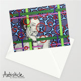 Whitney Note Cards, set of 6 blank cards with envelopes