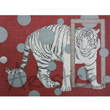 White Tiger Note Cards, set of 6 blank cards with envelopes