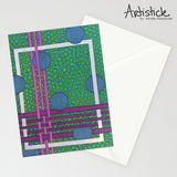 Weave Note Cards, set of 6 blank cards with envelopes