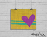 Yellow Heart signed art print