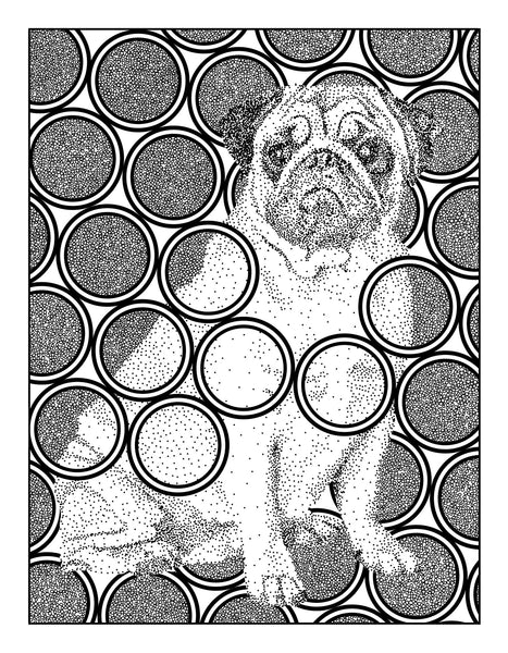 FREE Pug Digital Coloring Page
