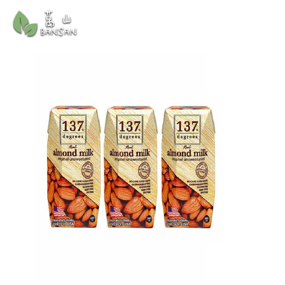 Penang Grocery Store Online Next Day Delivery is Offering 137 Degrees Unsweetened Almond Milk (180ml)