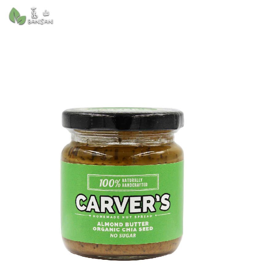 Carver Almond Butter with Organic Chia Seeds (180g) - Bansan Penang