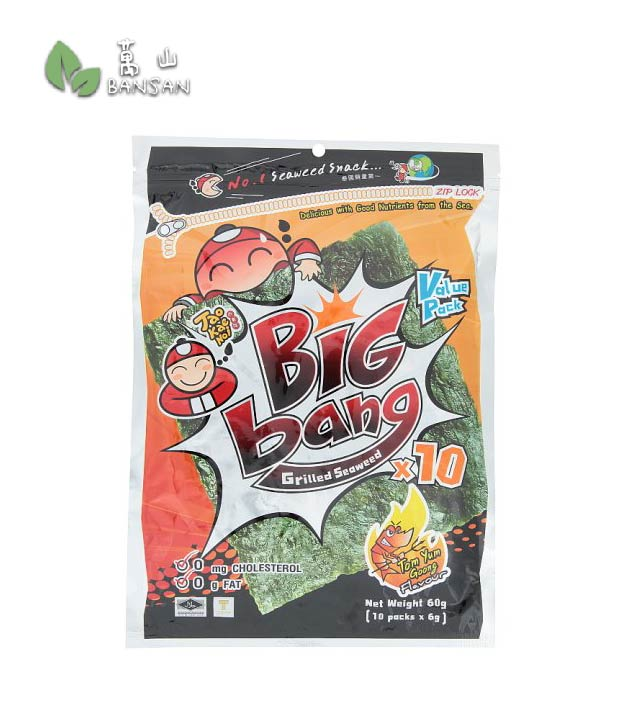 Penang Grocery Store Online Next Day Delivery is Offering Big Bang Tom Yum Goong Flavour Grilled Seaweed [10 packs x 6g]