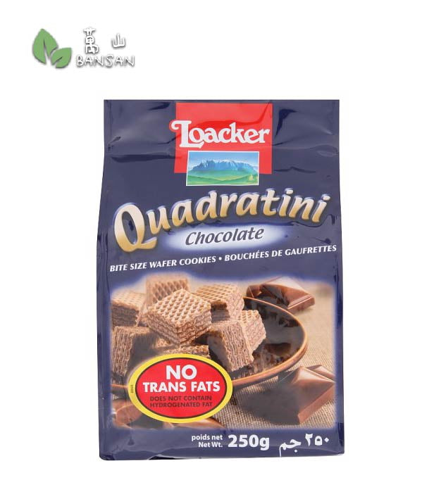 Loacker Quadratini Chocolate Bite Size Wafer Cookies [250g] - Bansan Penang