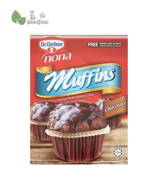 Penang Grocery Store Online Next Day Delivery is Offering Dr. Oetker Nona Chocolate Muffins Mix [425g] + Free Paper Cups in Pack