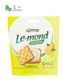 Julie's Le-mond Lemon Flavoured Cream Puff Sandwich 16 Convi-Packs [272g] - Bansan Penang