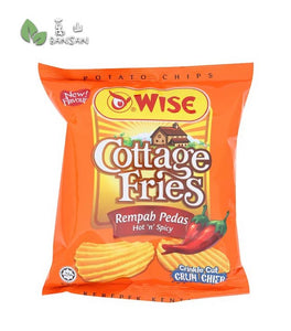 Wise Cottage Fries Hot 'n' Spicy Crinkle Cut Potato Chips [65g] - Bansan Penang