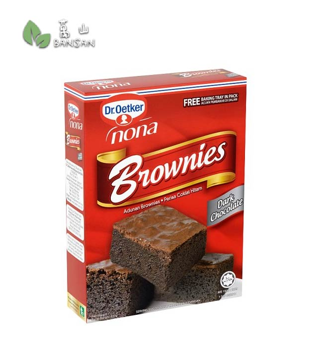 Penang Grocery Store Online Next Day Delivery is Offering Dr. Oetker Nona Dark Chocolate Brownies Mix [510g] + Free Baking Tray in Pack