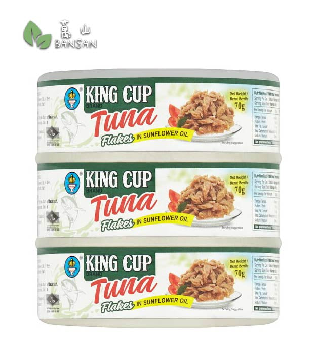 King Cup Brand Tuna Flakes in Sunflower Oil [3 x 70g] - Bansan Penang