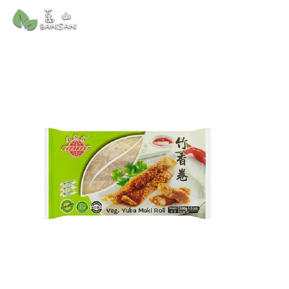 Penang Grocery Store Online Next Day Delivery is Offering Everbest Veg. Yuba Maki Roll 竹香卷 (5pcs) (300g)