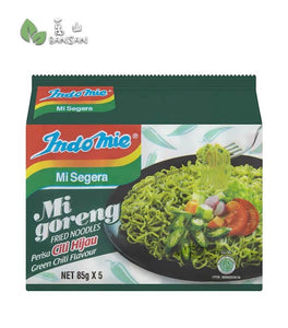 Penang Grocery Store Online Next Day Delivery is Offering Indomie Mi Goreng Green Chili Flavour Fried Noodles [5 Packets x 85g]