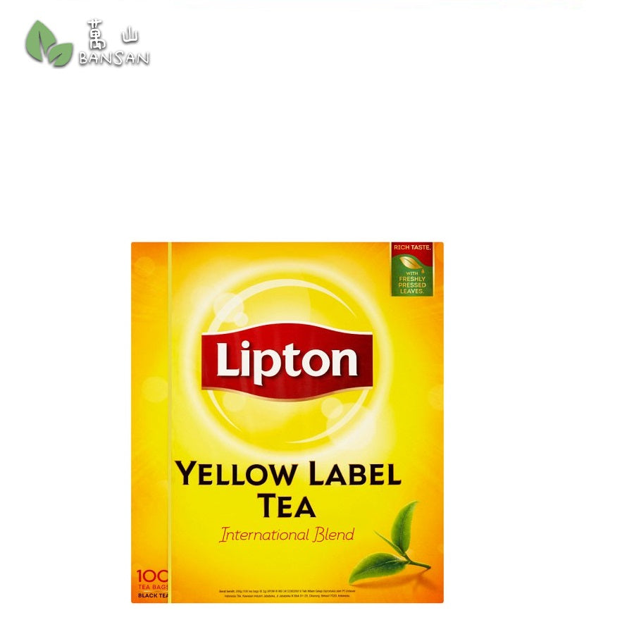 Lipton Yellow Label Black Tea 100 Tea Bags x 2g (200g) - Bansan Penang