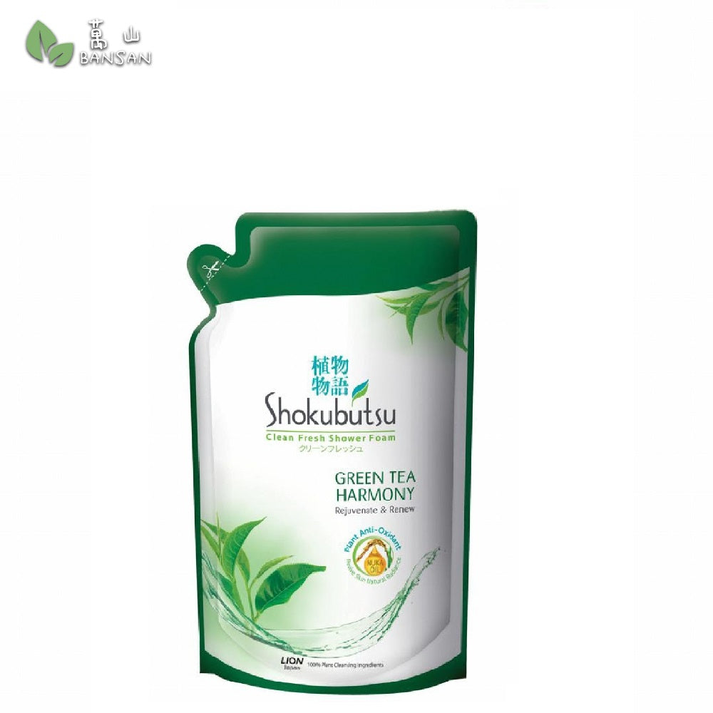 Shokubutsu Shower Foam Refill (Green Tea) 850g - Bansan Penang