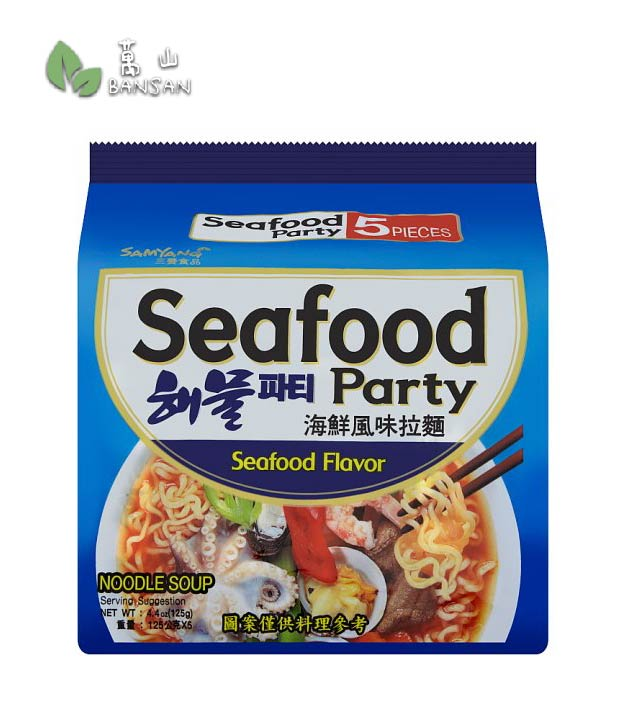 Samyang Seafood Party Noodle Soup Seafood Flavor [5 Packets x 125g] - Bansan Penang