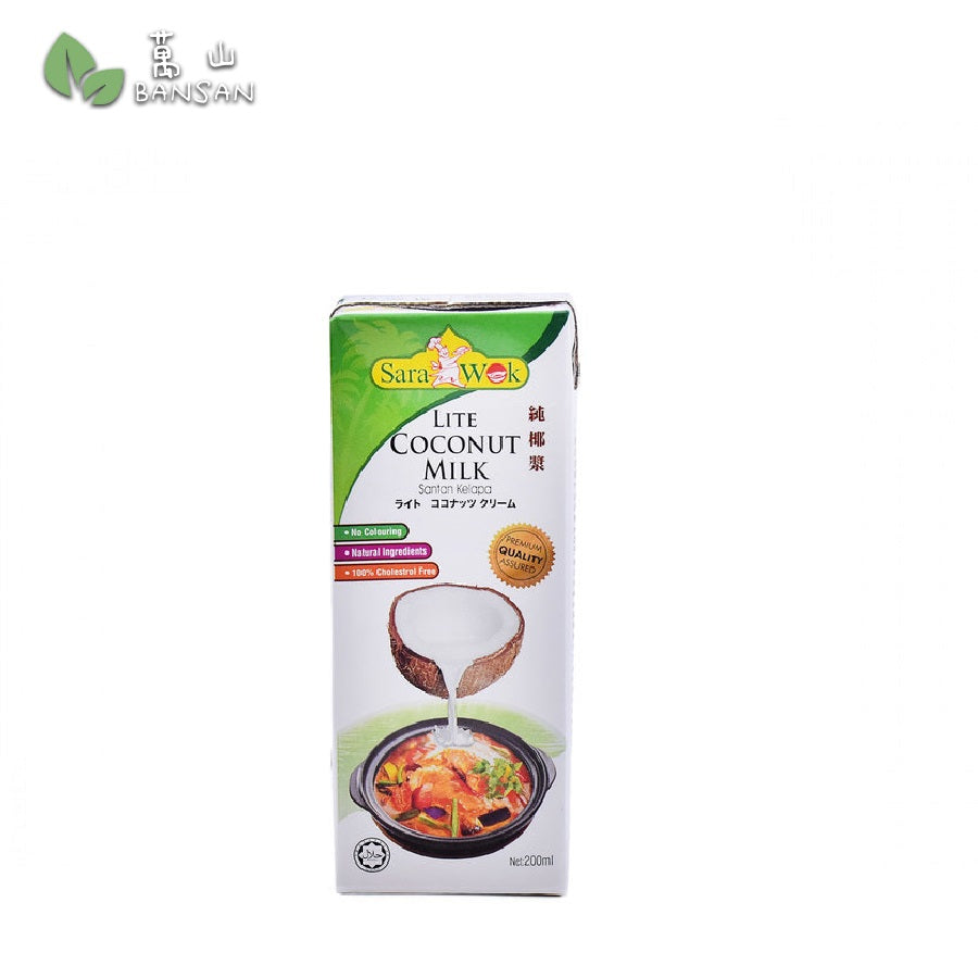 Penang Grocery Store Online Next Day Delivery is Offering SARA WOK Lite Coconut Milk (200ml)