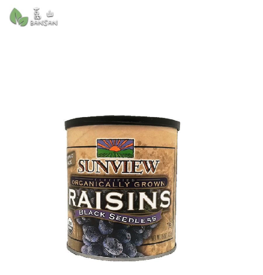 Penang Grocery Store Online Next Day Delivery is Offering Sunview Organic Dried Raisins Black Seedless (425g)