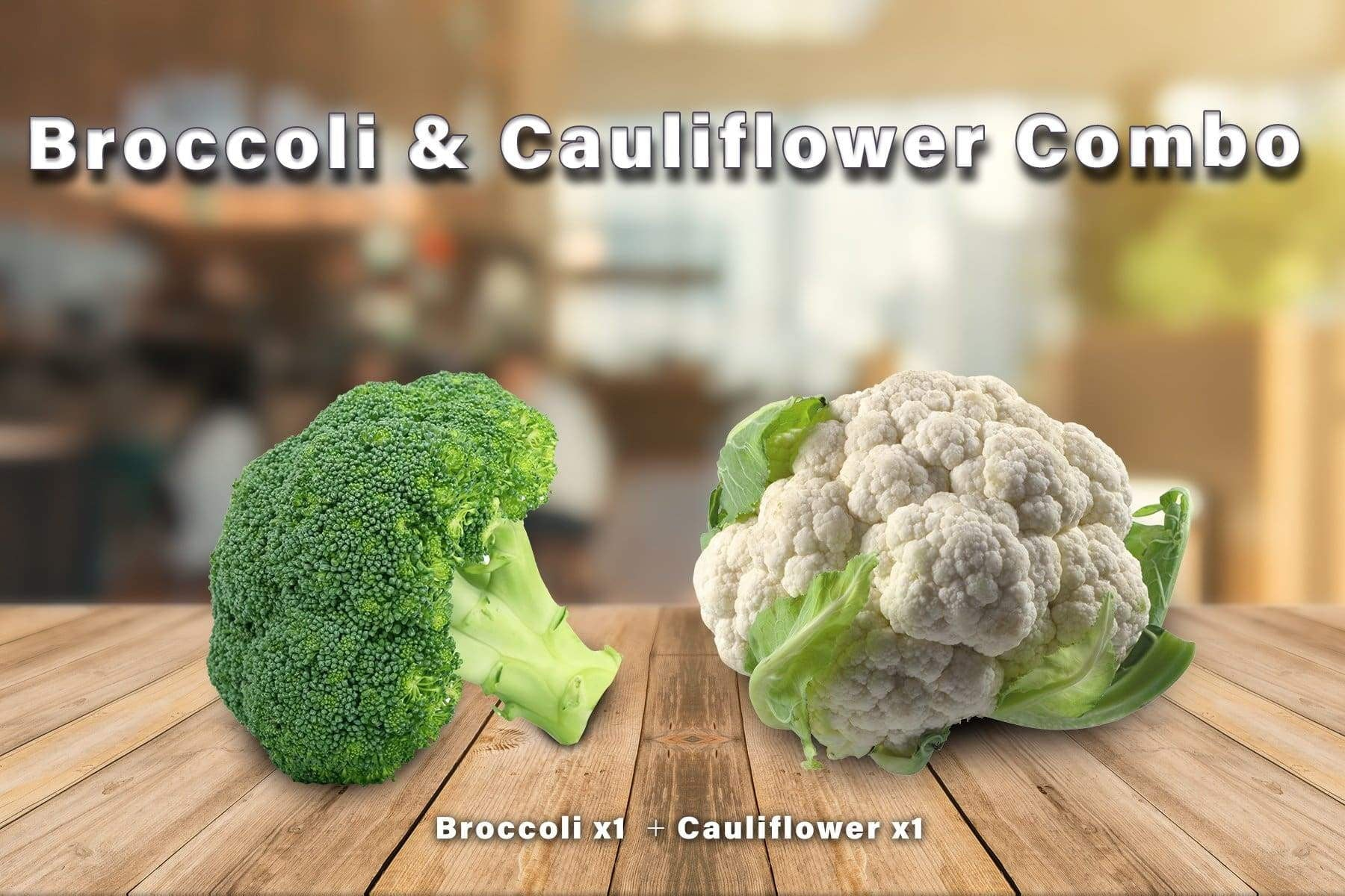 Penang Grocery Store Online Next Day Delivery is Offering Broccoli & Cauliflower Combo