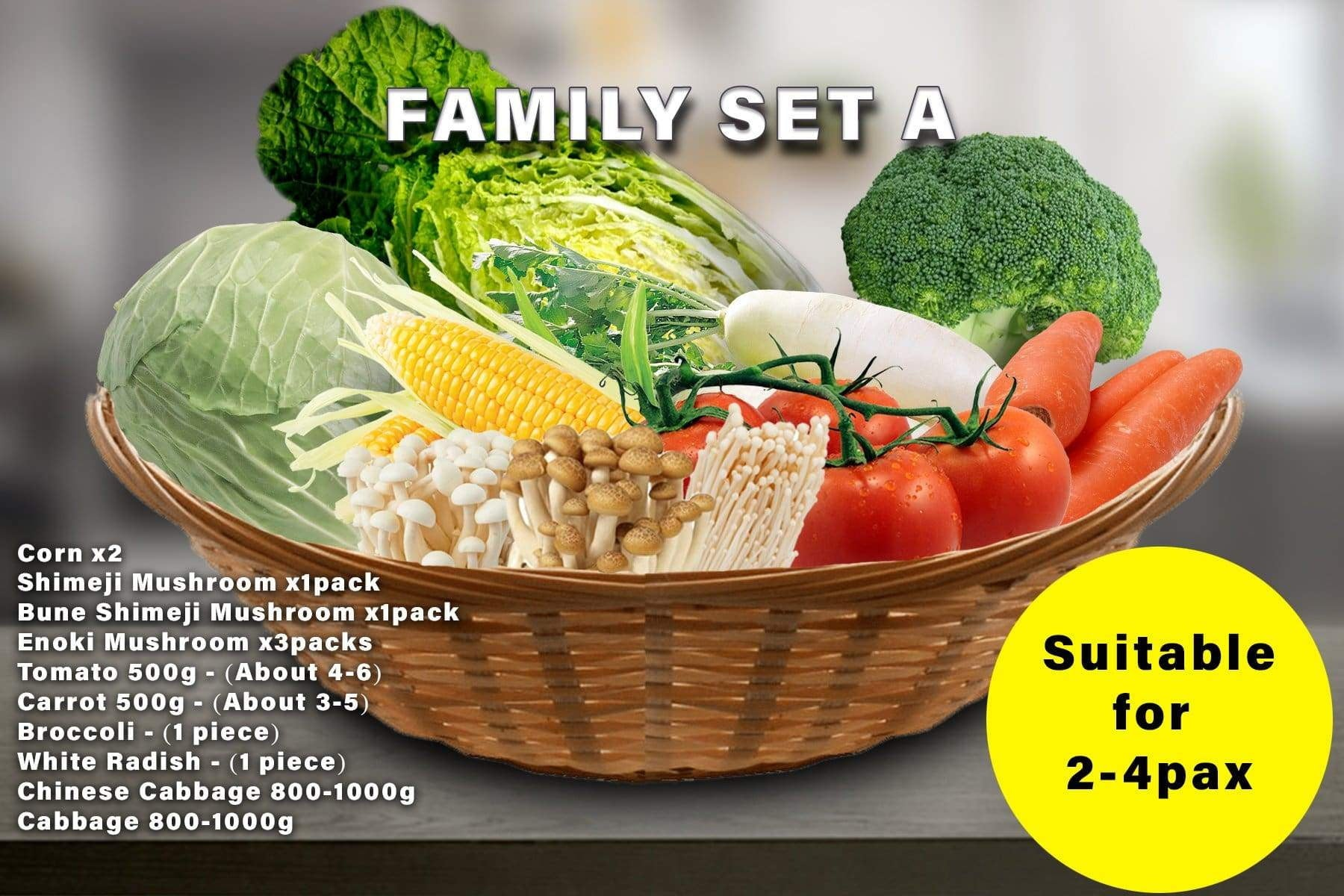 Penang Grocery Store Online Next Day Delivery is Offering Family Set A