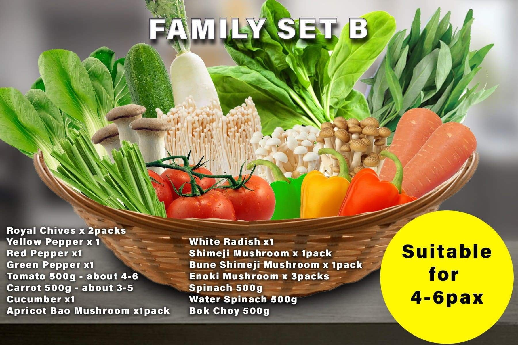 Penang Grocery Store Online Next Day Delivery is Offering Family Set B
