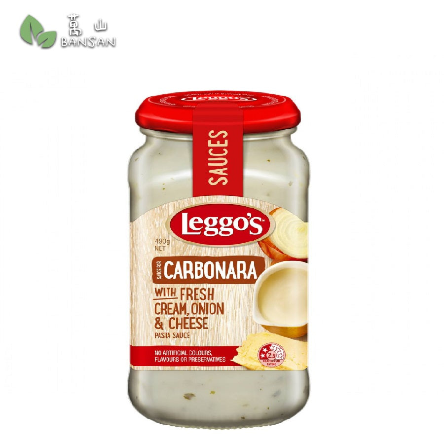 Penang Grocery Store Online Next Day Delivery is Offering Leggo's Carbonara with Fresh Cream, Onion & Cheese Pasta Sauce (490g)
