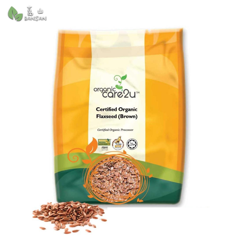 Organic Care2u Organic Flax Seed (Brown) 有机亚麻籽 (400g) - Bansan Penang