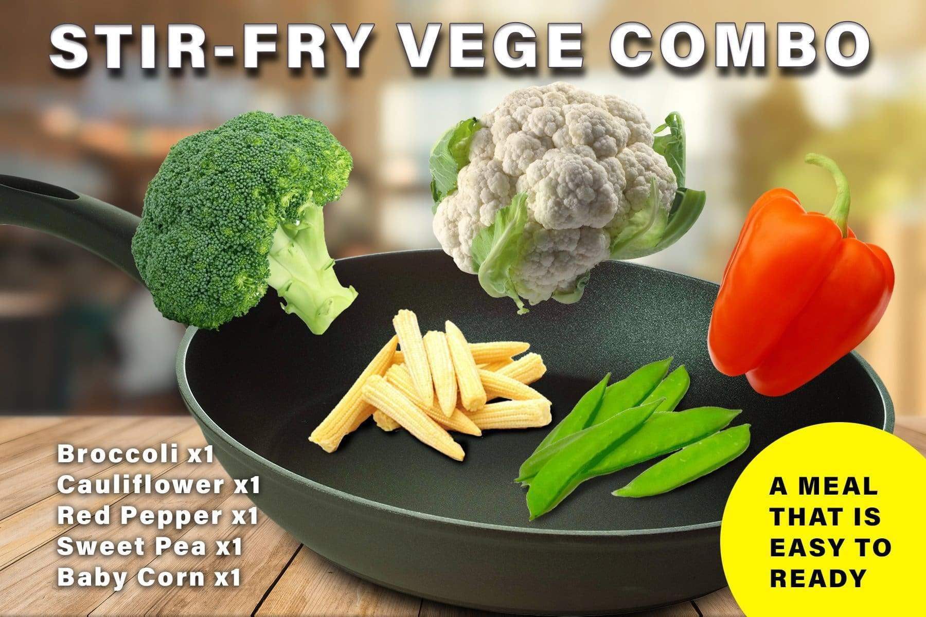 Penang Grocery Store Online Next Day Delivery is Offering Stir-Fry Vege Combo