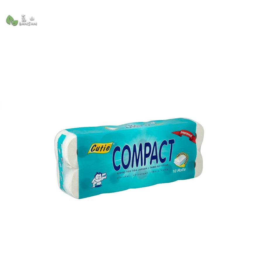 Cutie Compact Three Ply Tissue (10 Rolls) - Bansan Penang