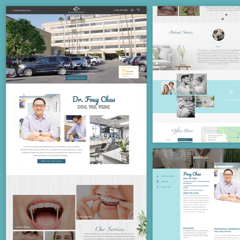 Patient Honey Custom Dental Website (Demo)