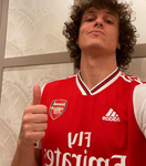 David Luiz - Camisa autografada - Arsenal