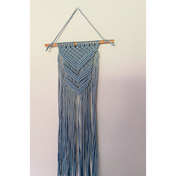 """Chevron"" Macrame Wall Hanging - White January"