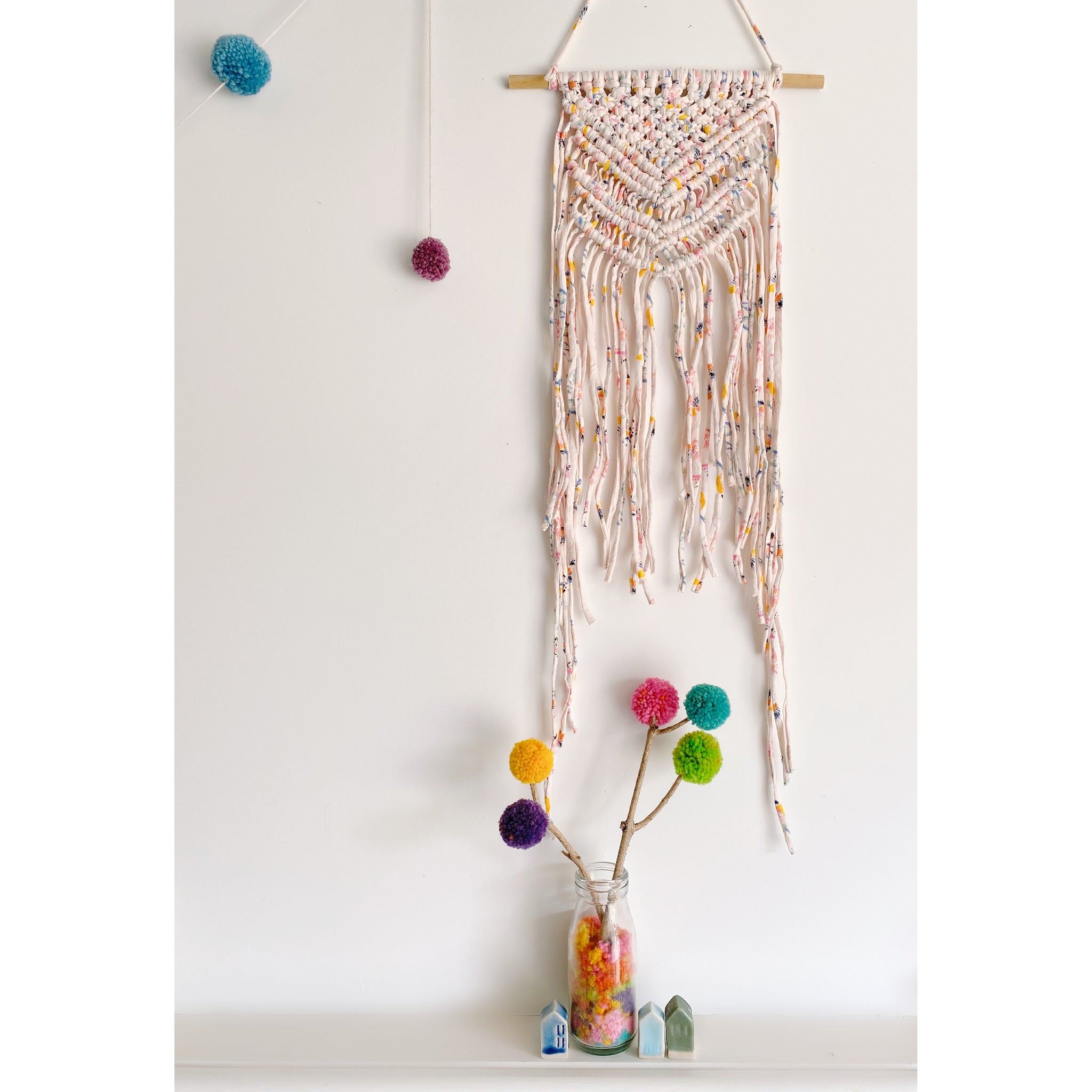 """Random Acts of Kindness"" Limited Edition Macrame Wall Hanging - White January"