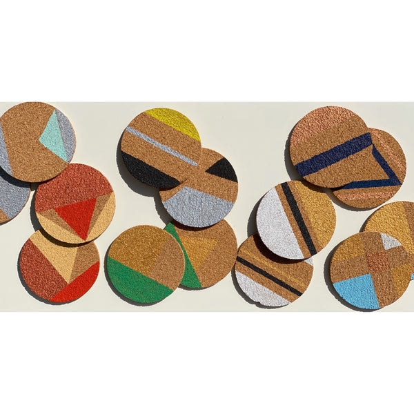 Eco Cork Coasters - White January