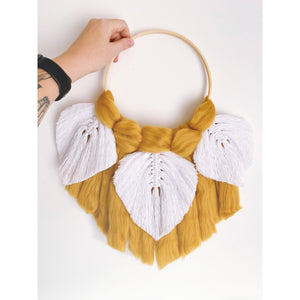 Soft Feather Macrame Dreamcatcher - White January