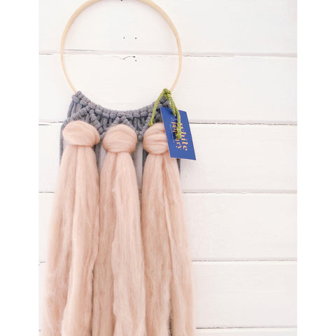 Flowing Macrame Dreamcatcher - White January