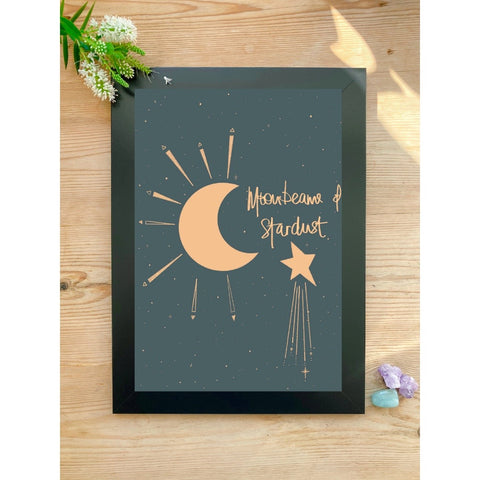 Moonbeams & Stardust A4 Art Print - White January