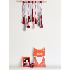 Fringe Macrame Wall Hanging - White January